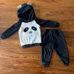 Kids Headquarters 🐼 2T Panda Hoodie & Jogger Set